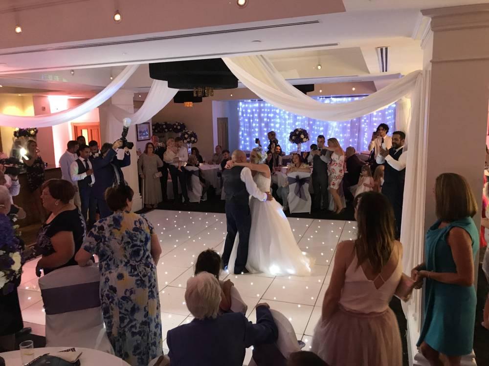White Led Starlit Dance Floor Hire In Kent London Essex